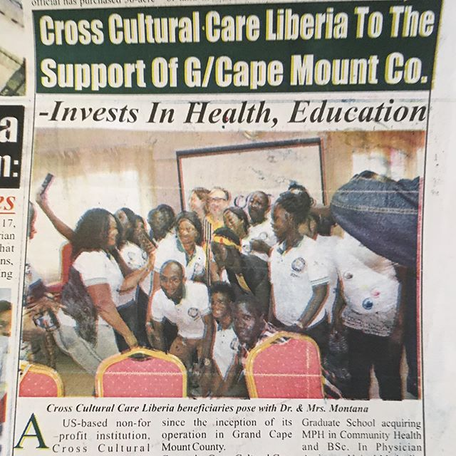 Our beautiful recipients of helathcare and education scholarships were on Liberia's news papers front page! #educationistheinnovation  #crossculturalcare #globalc3 #education #liberia #nonprofit