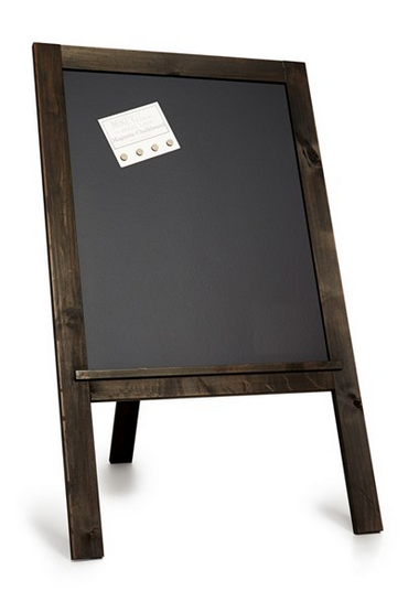 Chalkboard Sign - 1 Sign Available. Display notes, photos or artwork on a self-standing, magnetic chalkboard easel that easily integrates into event or wedding decor.26