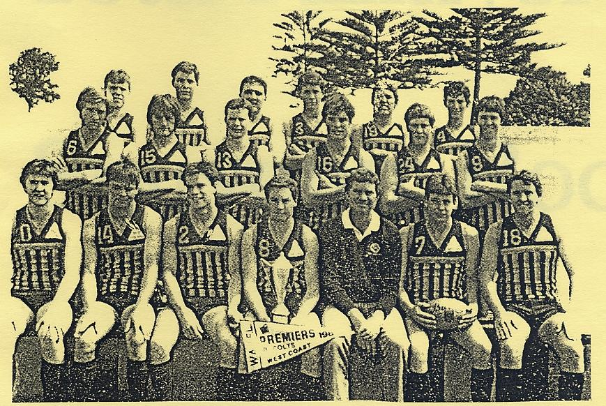 West Coast Amateur Football Club 1984 Colts Premiers Flag-winners in the club's first year
