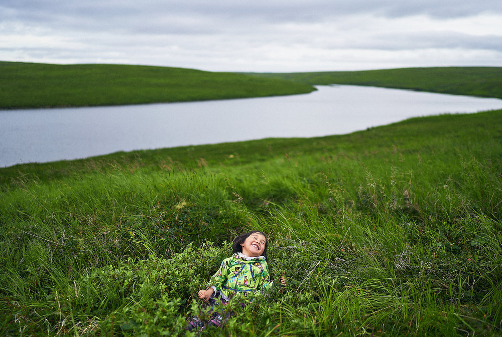 Aurora, a daughter of the tundra. [Nunivak Island,  Alaska]