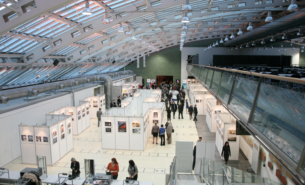 Half of the photo exhibition