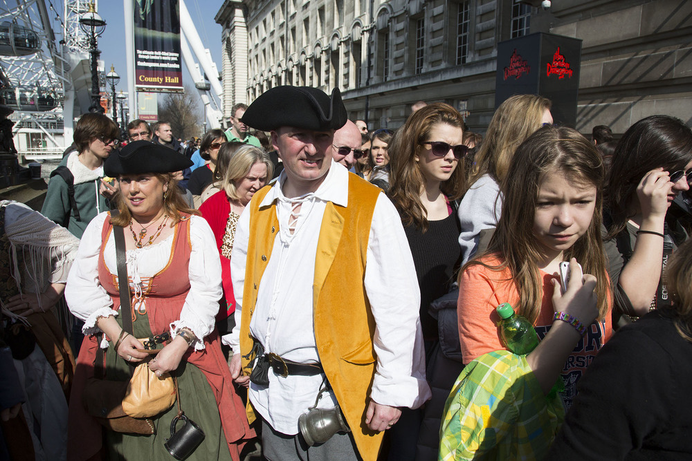 River Rogues Pirate Re-enactment Society gather for a day out.