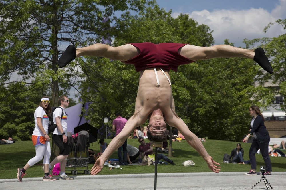 Daniel, acrobat from Gravity & Other Myths Circus.