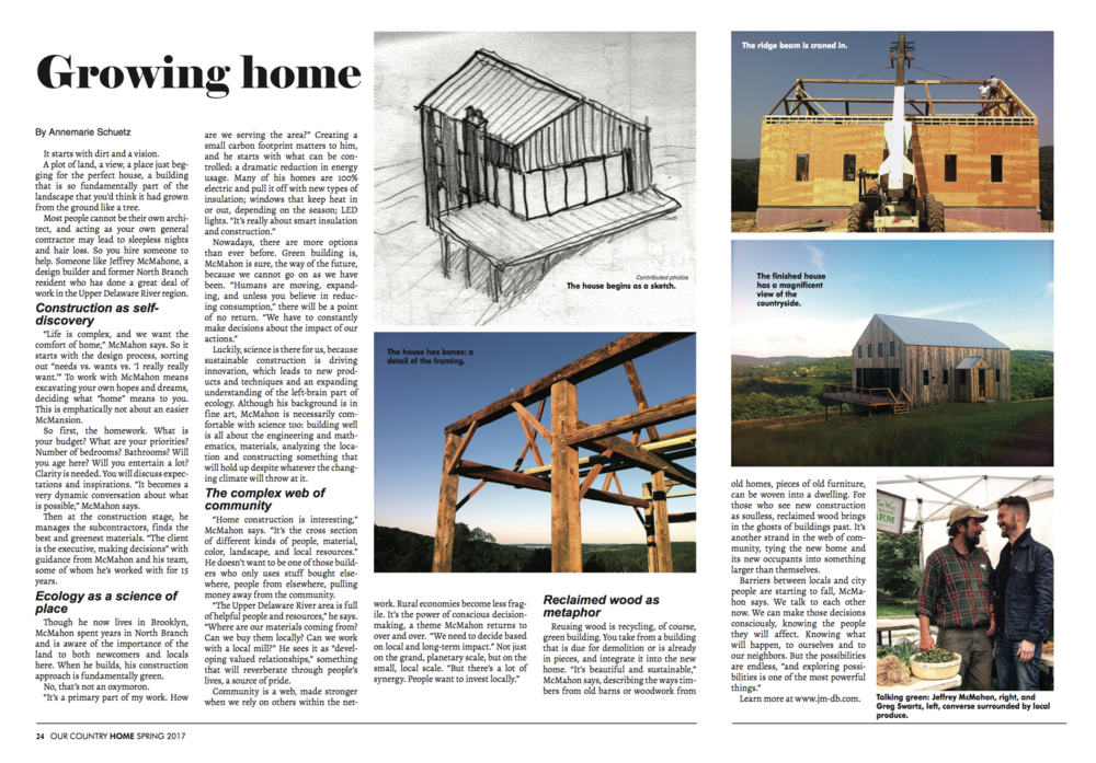 Our Country Home Magazine Spread -