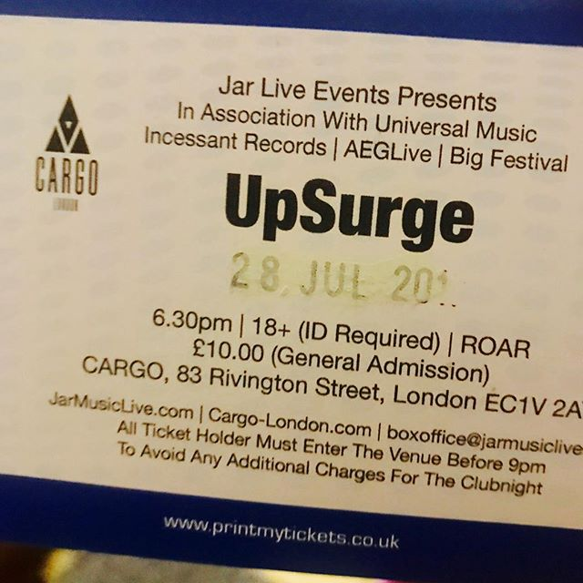 Tickets have arrived for our gig @cargo_ldn on the 28th July, @universalmusicgroup and #JarLive are putting us on. Will be a great night and we can't wait to see your faces. Band members all tagged, talk to us for tickets. . . . . . . . . #gigsandfestivals #livelondon #AltRock #BandOfTheDay #alternative #RockMusic