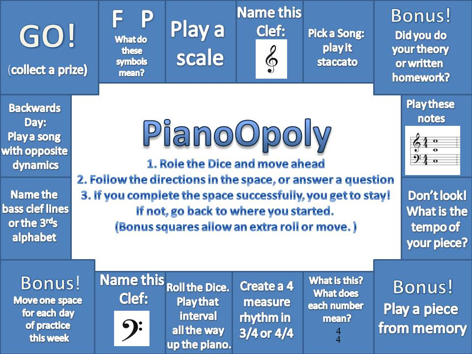 PianoOpoly by BrownePiano.com