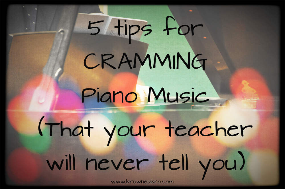 Cramming Tips To Learning Piano Music Quickly Brownepiano