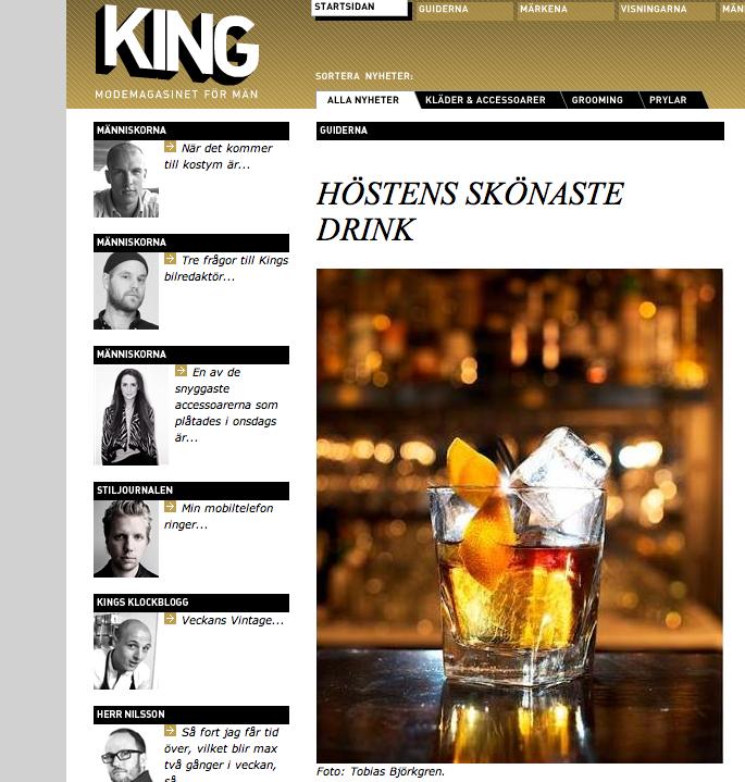 Drinkbild för MS&L Nordic publicerad i King Magazine ©Tobias Björkgren