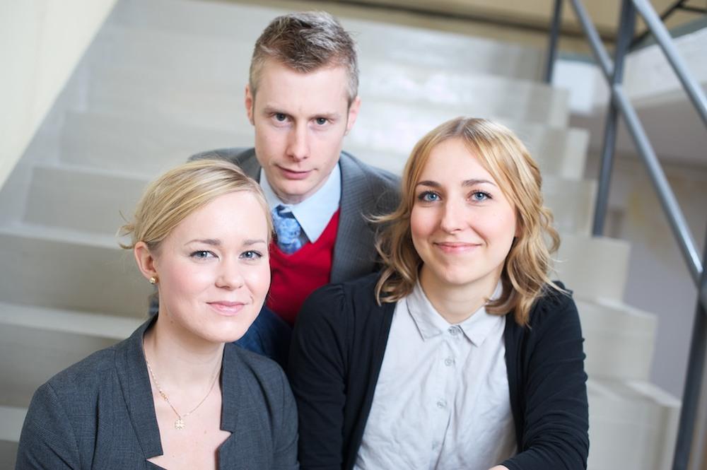 Gruppbild i industritrappa, Byråkreativ ©Tobias Björkgren