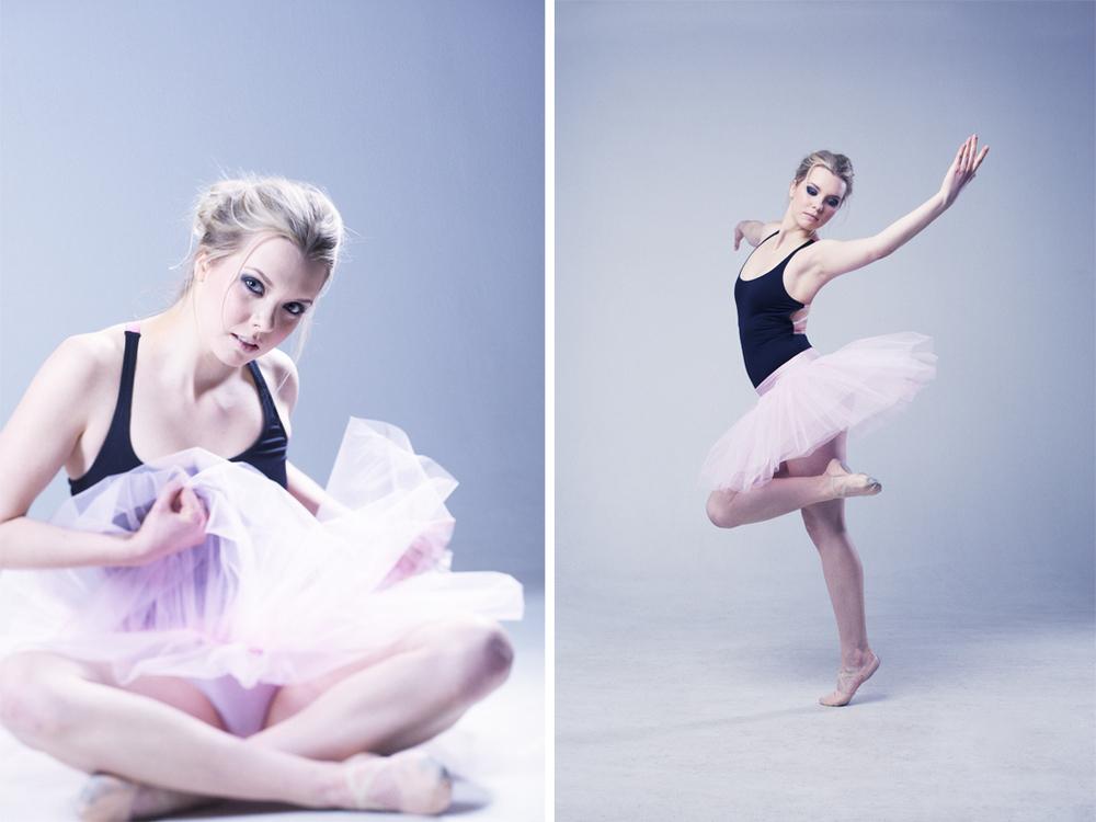 Emelie Enqvist - Ballerina porträtt ©Tobias Björkgren