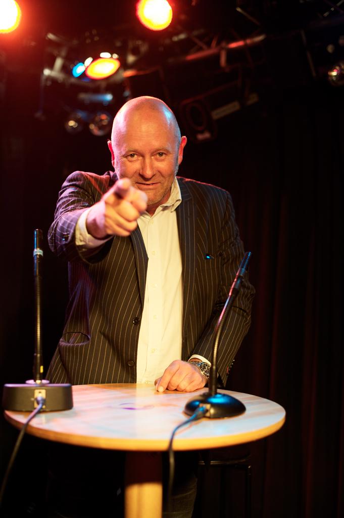 Porträtt på Johan Lange i rampljuset