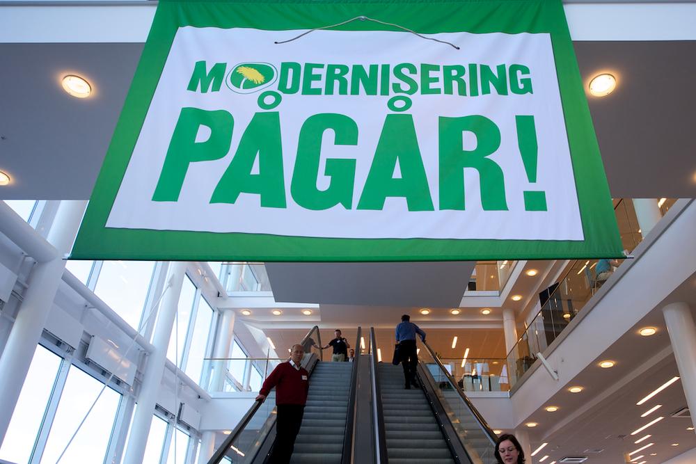 Miljöpartiets slogan i Karlstad CCC