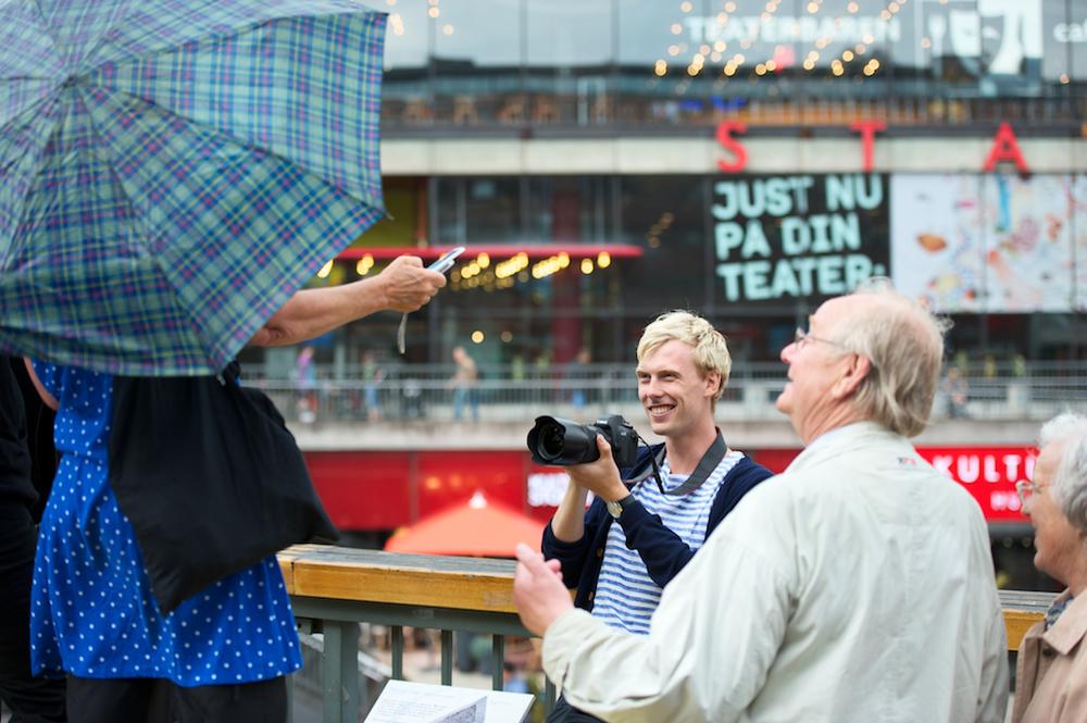 Erik Johansson på Sergels torg