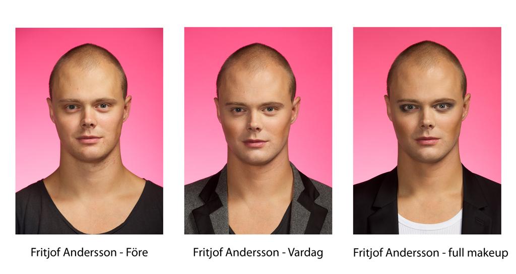 Fritjof Andersson, före- efter- och retuscherad