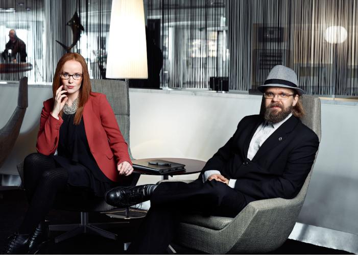 Caroline Björkgren och Niklas Dahlqvist