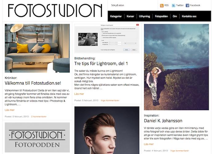 Nu är fotostudion.se lanserad, en samlingsplats för inspiration kring svenskt fotograferande