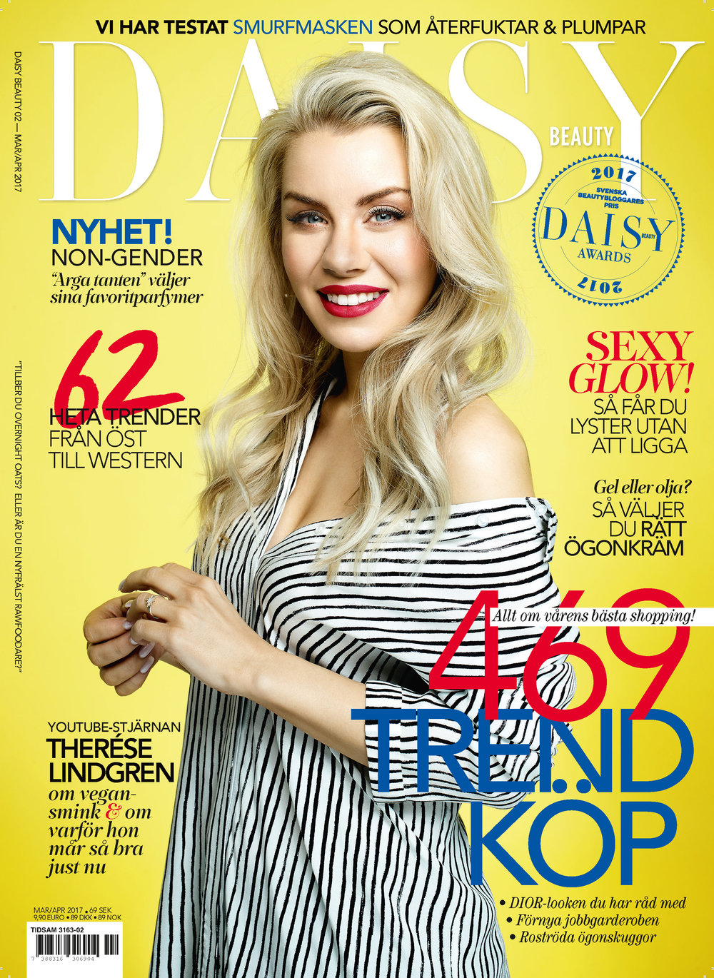 Cover With Therese Lindgren For Daisy Beauty Magazine