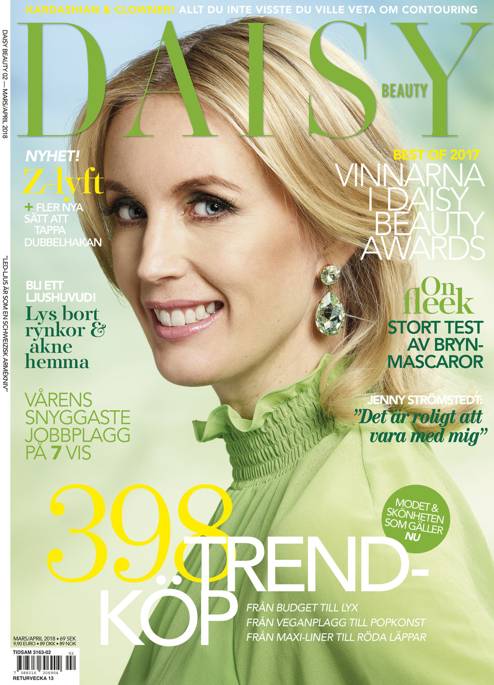 Jenny Strömstedt on the cover for the second issue of Daisy Beauty magazine 2018