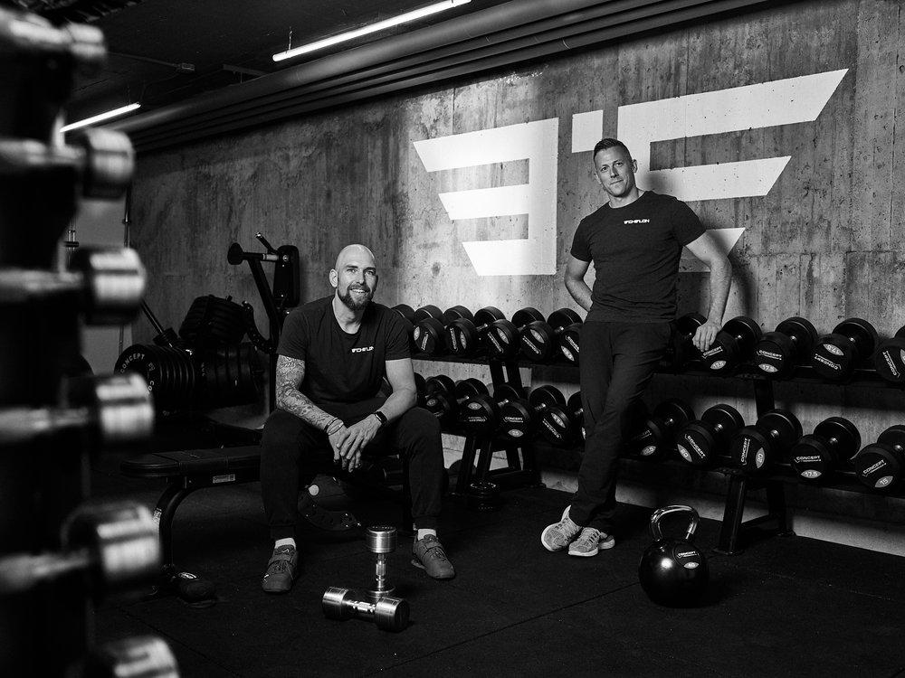 Personal trainers of Studio L'Echelon