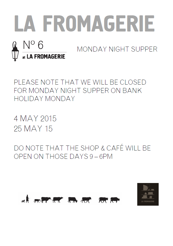 Bank Holiday Mondays May 2015