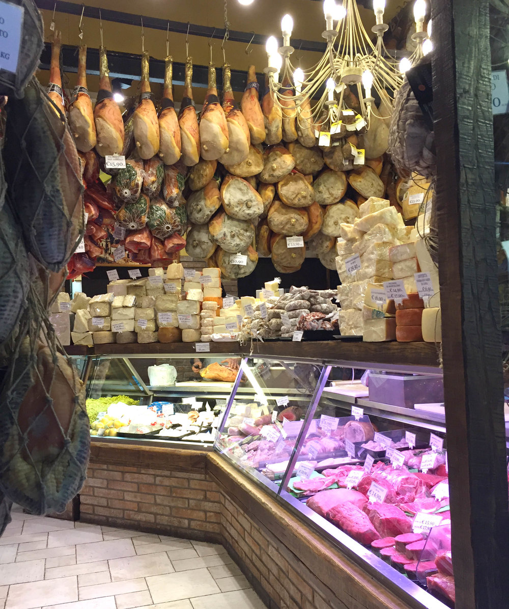Cheese Shop in Bologna. Photo: Patricia Michelson.