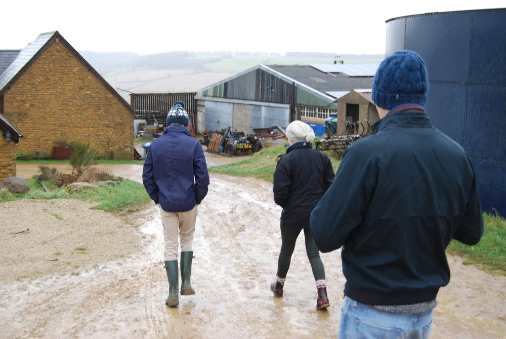 Walking down to the parlour