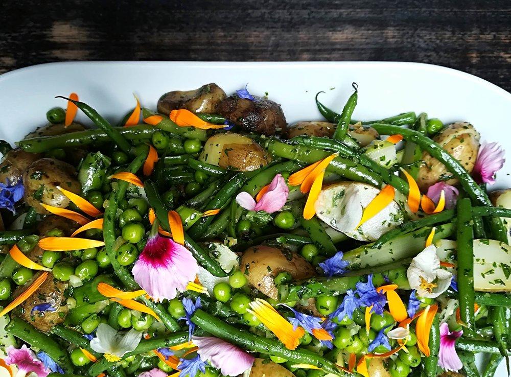spring summer vegetable salad peas beans edible flowers web.jpg
