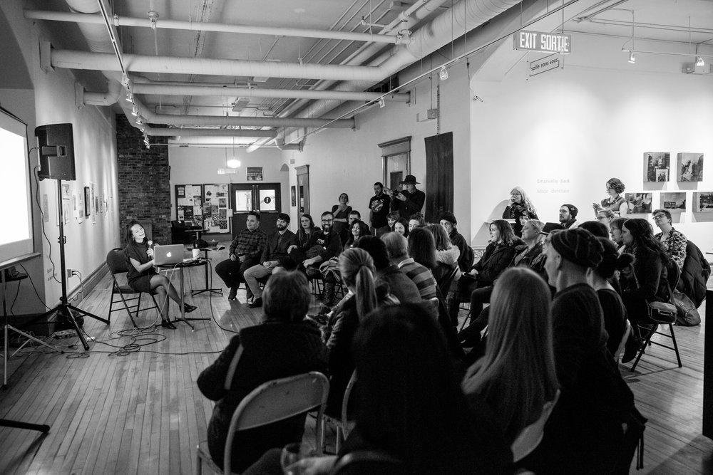 Conférence de l'artiste Tanya Busse Janvier 2015