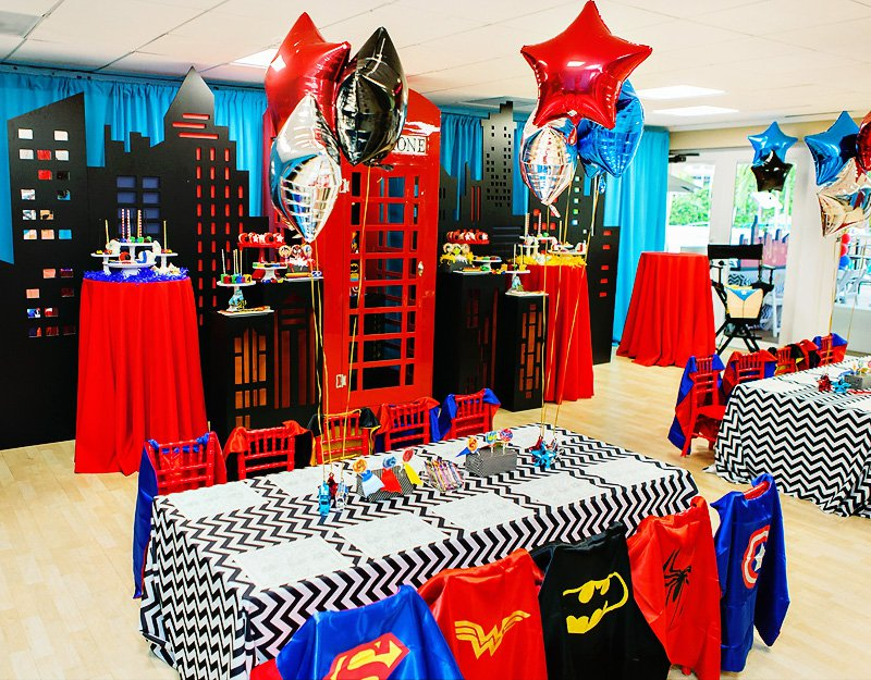 Home Design Impressive Birthday Party Center Pieces Superman Source Mickey Circus Soiree By One Inspired
