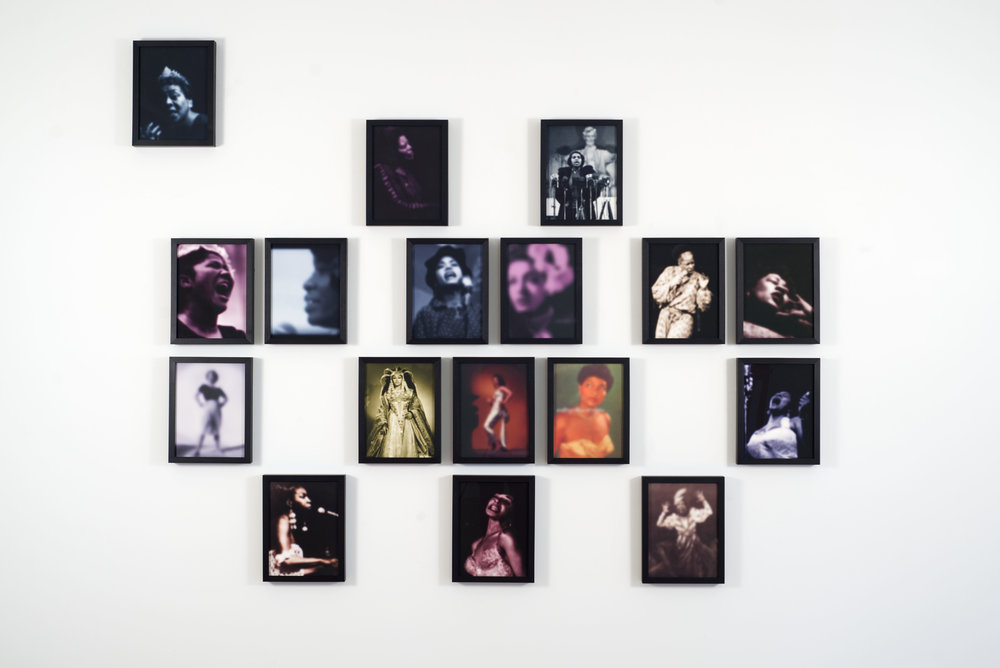 Carrie Mae Weems, Slow Fade to Black, Set II,2009-2010, Inkjet on paper ,17 images, each 13 x 10 1/8 inches framed