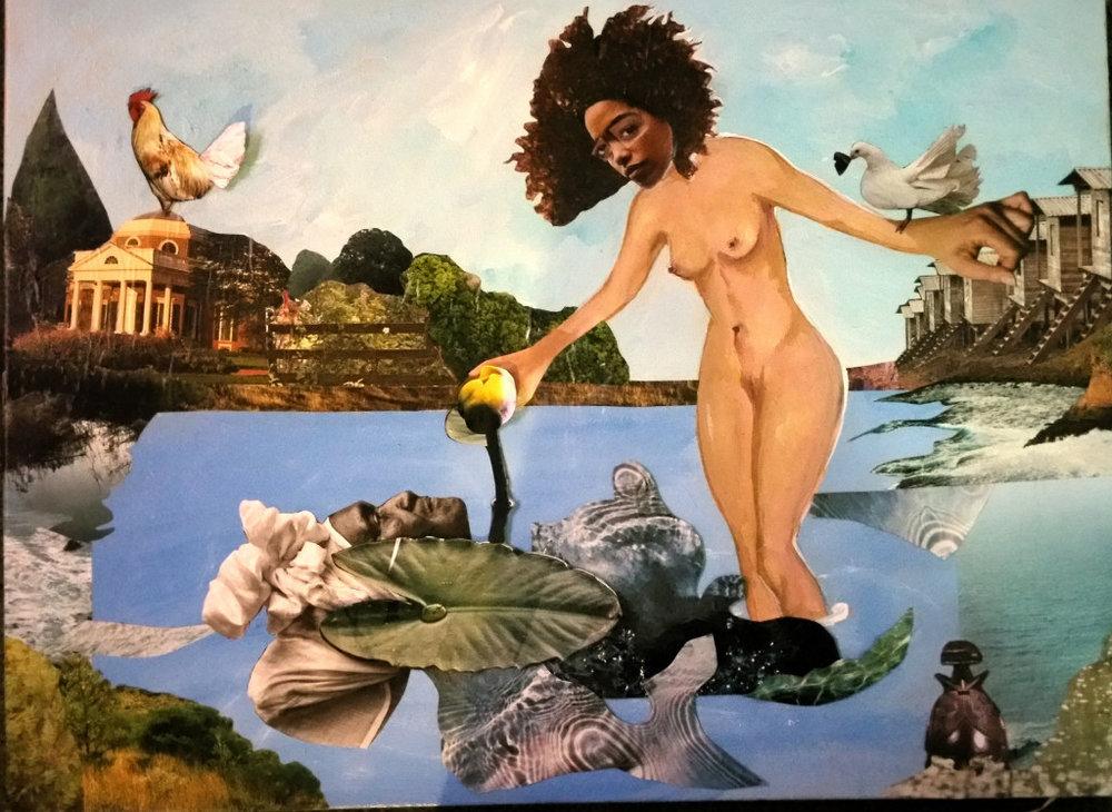 Candace Hunter,Nina Simone's Four Women: Saffronia; Collage; 24 x 18 inches