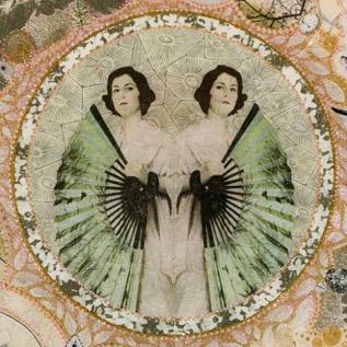 Eana Agopian Artwork, Two Women, collage