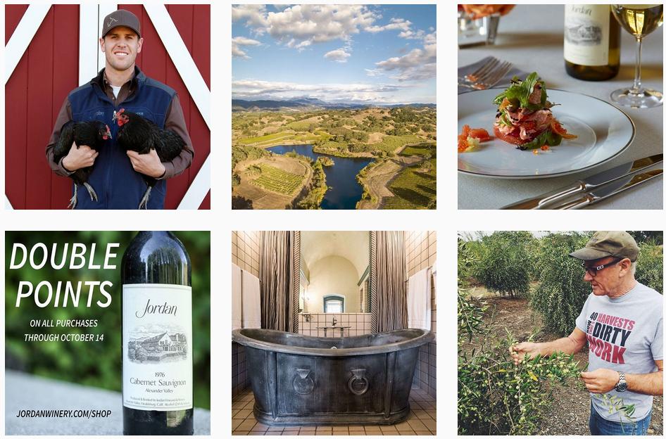 Jordan Winery Social Posts