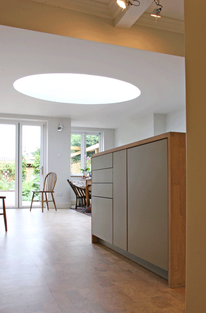 The Kitchen Opens Up Into The New Extension Space With Its Spectacular Roof  Light, And Double Doors Link Through To The Garden.