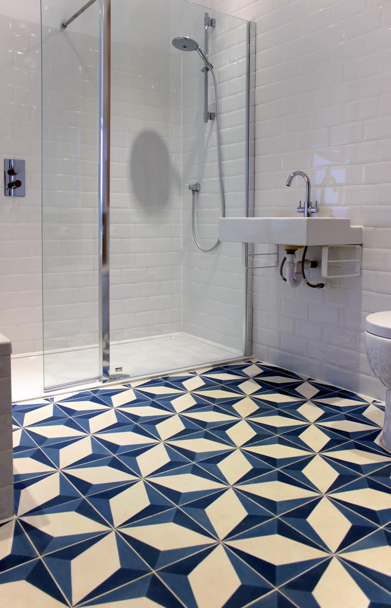 Comes Alive With A Punchy Encaustic Tiled Floor In Geometric Design
