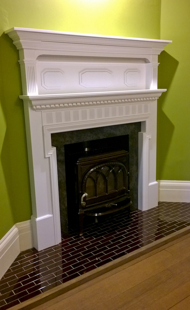 All done! complete with newly designed fireplace surround, A new front edge, that is fitted to avoid evidence of screw fitting.