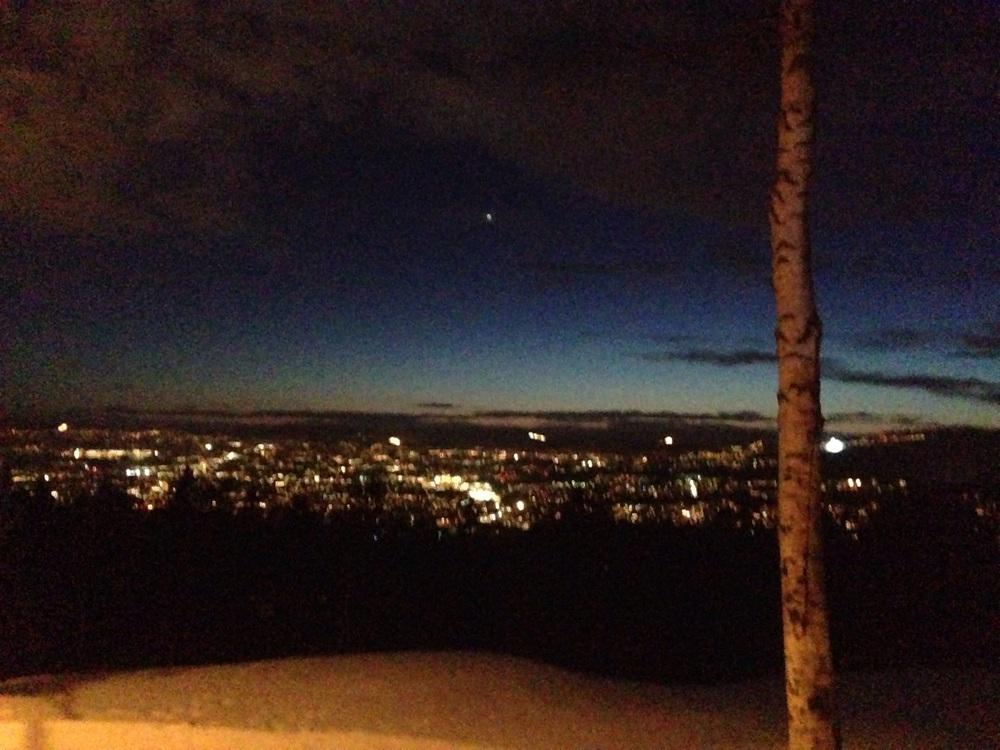 Det er helt grei utsikt fra Grefsenkollen.