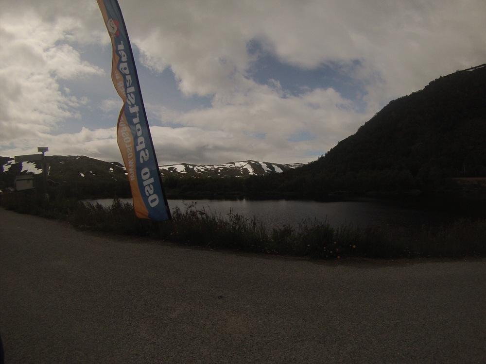 Målgang dag to ved Haugastøl. Flott utsyn helt hit med snedekte fjell og frisk fjellvind.