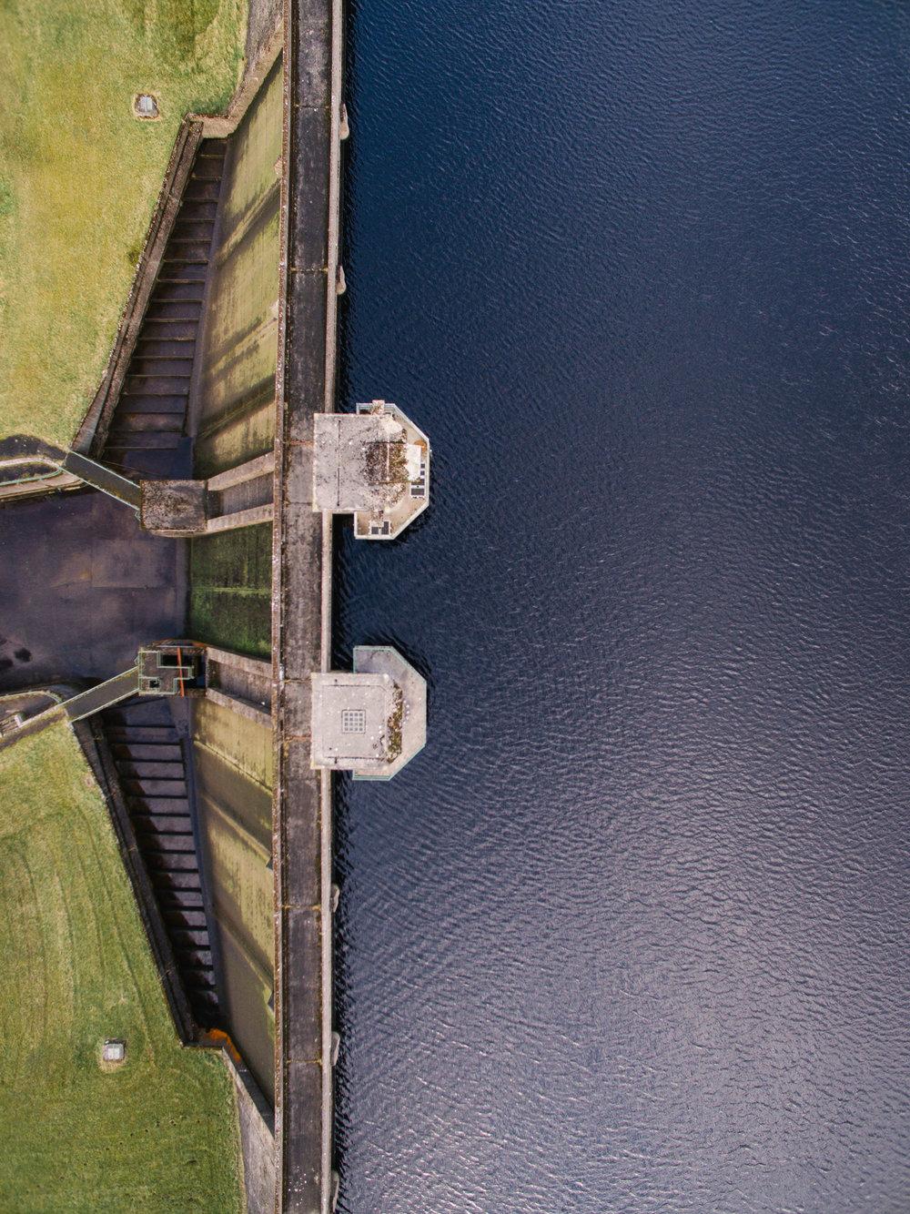 Altnahinch Dam, County Antrim, Northern Ireland, Drone Photography, DJI Phantom 3