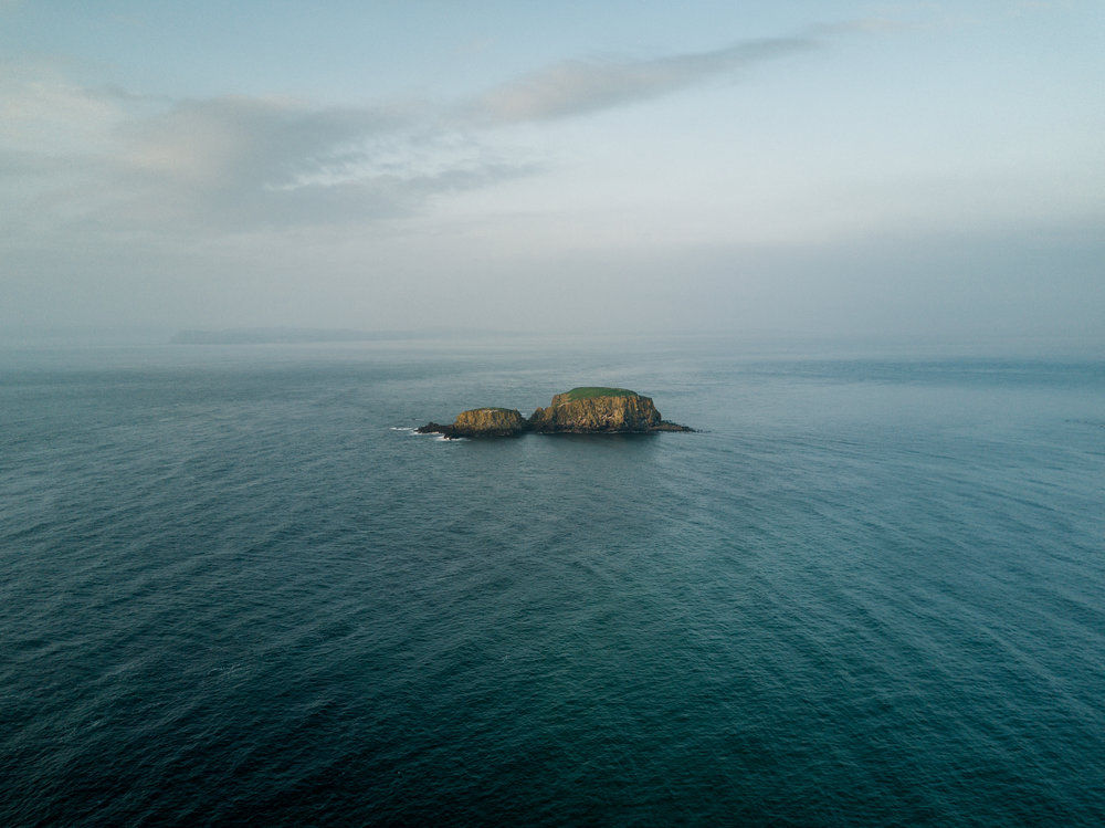 Aerial Photograph of Sheep Island, Ballintoy taken from DJI Mavic Pro Drone by CAA approved UAV Drone Operator Connor McCullough, providing UAV Drone Photography and Video Services in Northern Ireland