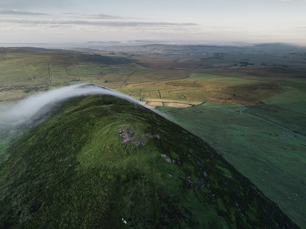 Aerial Photograph of Slemish, Broughshane, Ballymena taken from DJI Mavic Pro Drone by CAA approved UAV Drone Operator Connor McCullough, providing UAV Drone Photography and Video Services in Northern Ireland