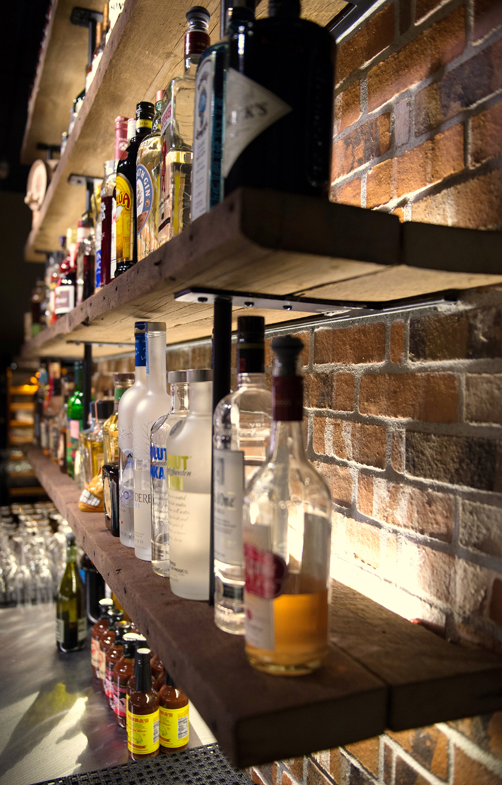 Wide selection of premium liquors