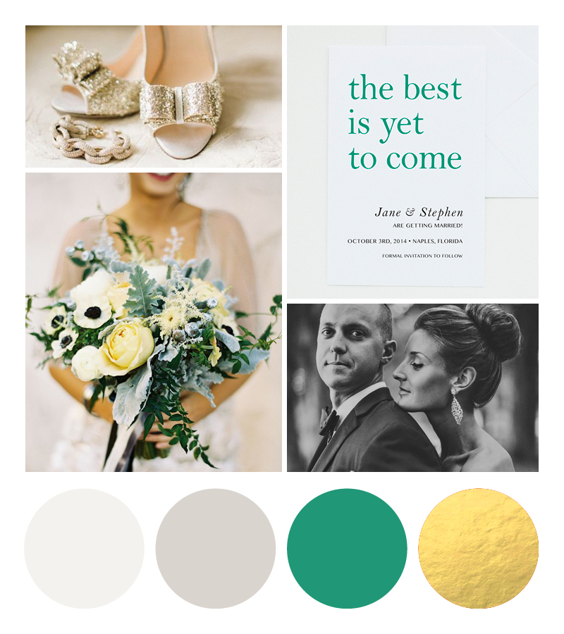 emerald and gold wedding colors