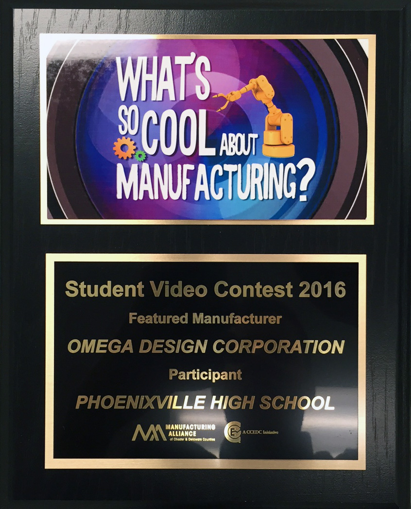 Plaque to Omega for participating
