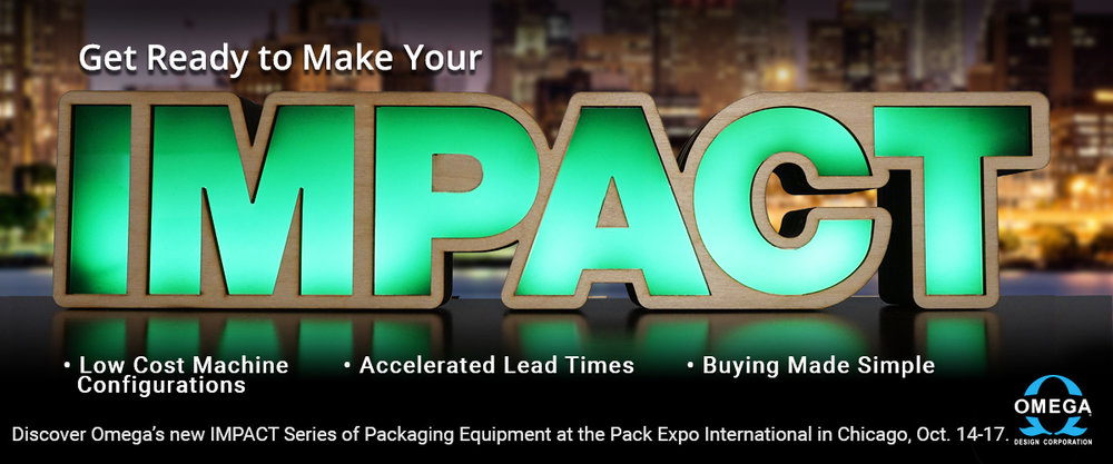 Omega's IMPACT Series of Packaging Equipment at Pack Expo 2018