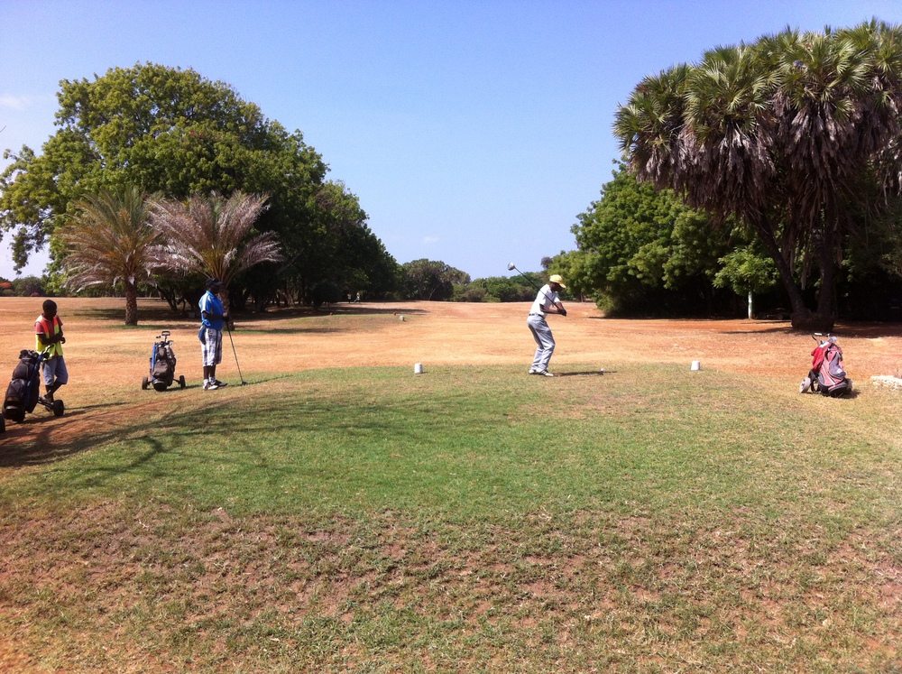 The 1st tee - 405 yards, par 4
