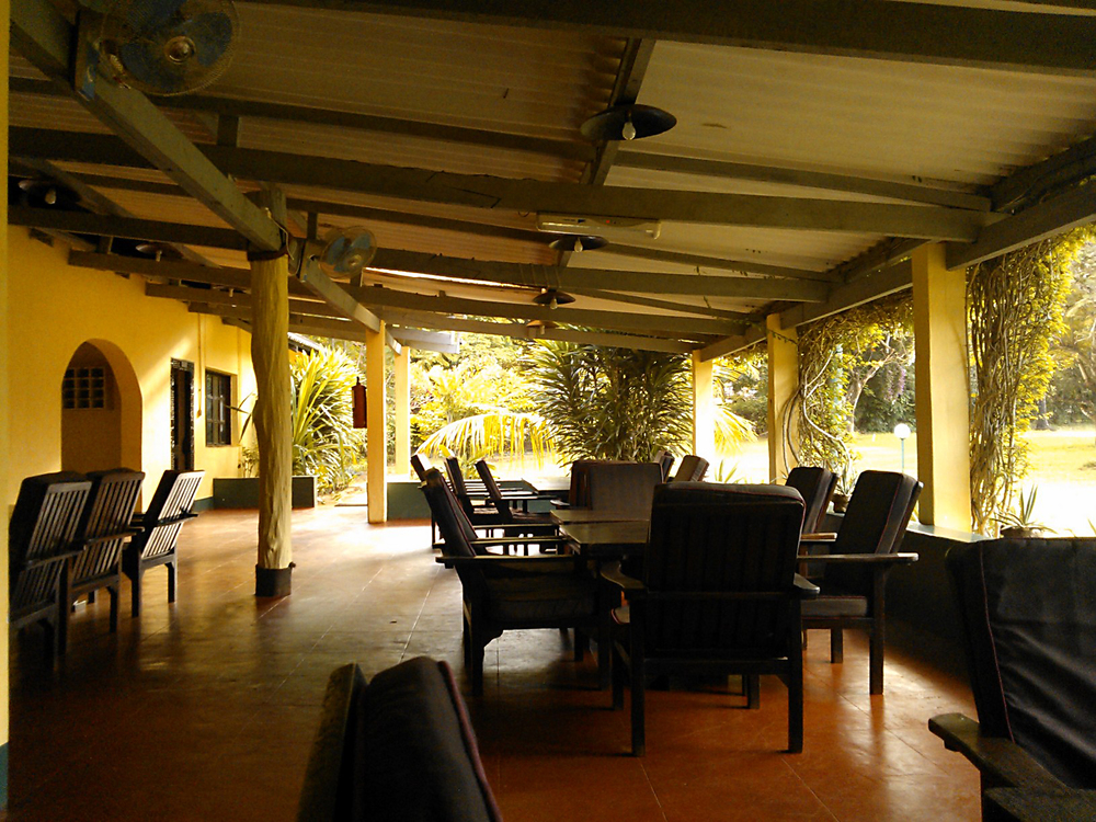 Clubhouse veranda