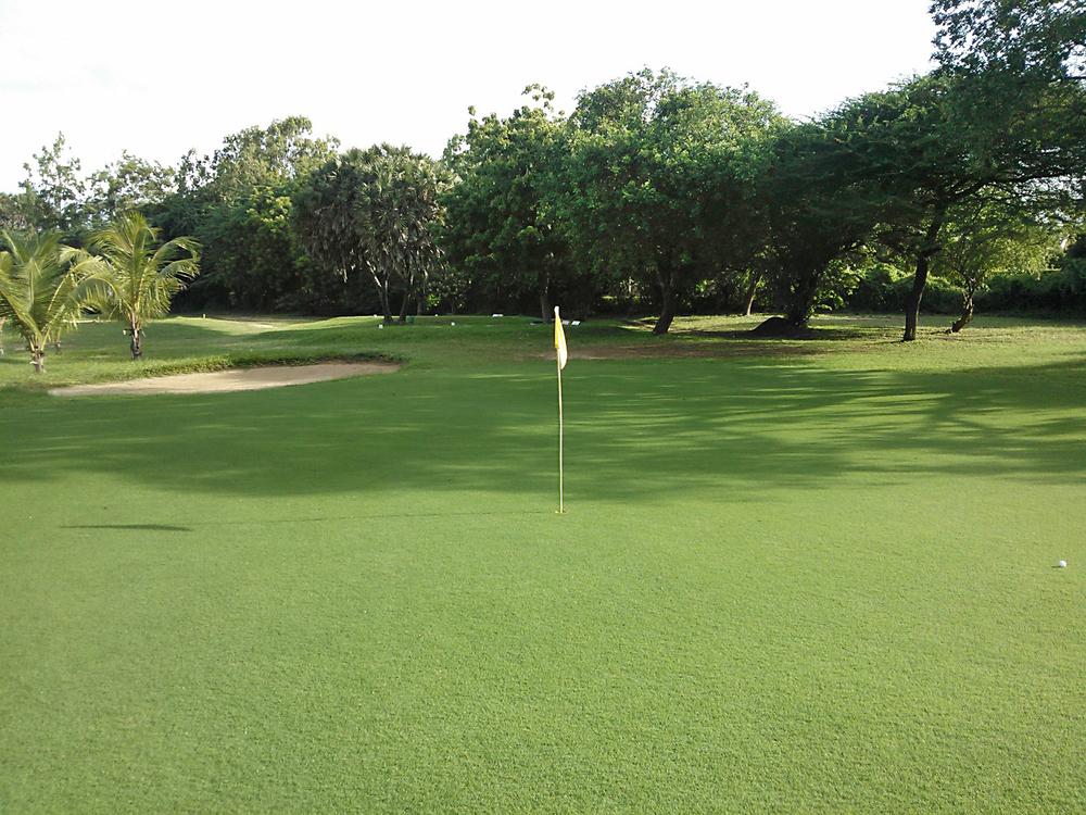 16th Green - 215 yards, par 3