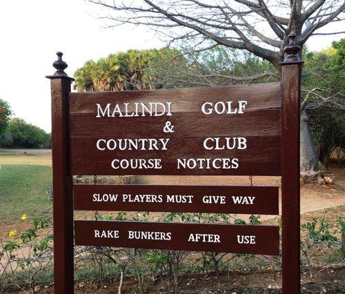Entering the golf course