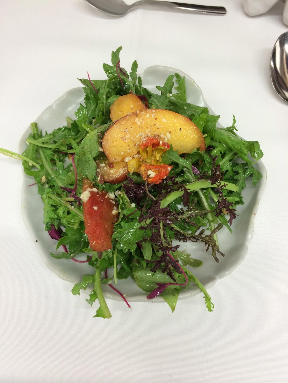 Nasturtium, Bouquet Garni, Almond, Sumac-pistachio vinaigrette